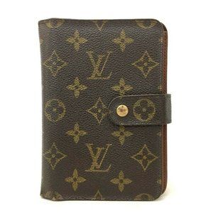 Auth Louis Vuitton Porte Papier Zipper #7996X71